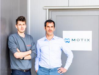 Marten Haspeslagh en Gerrit Taverniers van Motix