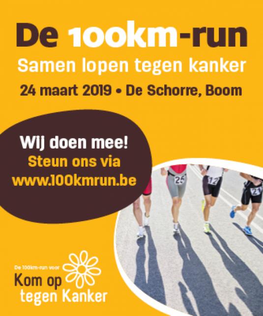 100km-run Kom op tegen Kanker